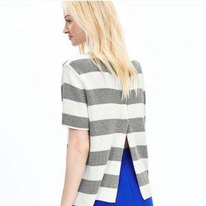 NWOT Banana Republic Striped Open Back Sweater
